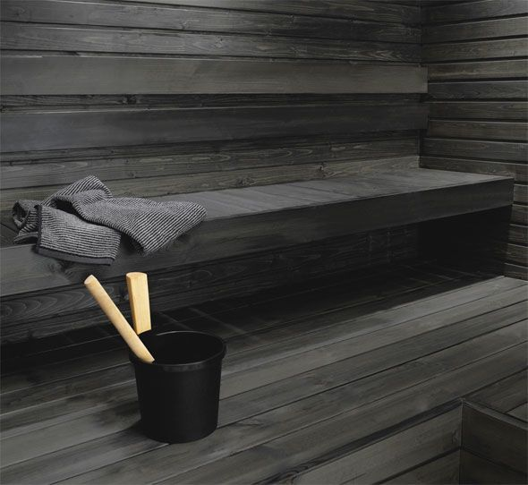 Black sauna wax, Tikkurila.
