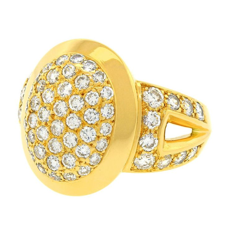 Cartier Diamond Ring   From a unique collection of vintage fashion rings at http://www.1stdibs.com/jewelry/rings/fashion-rings/