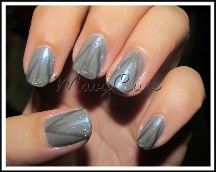 #Manicure color líneas y brillo
