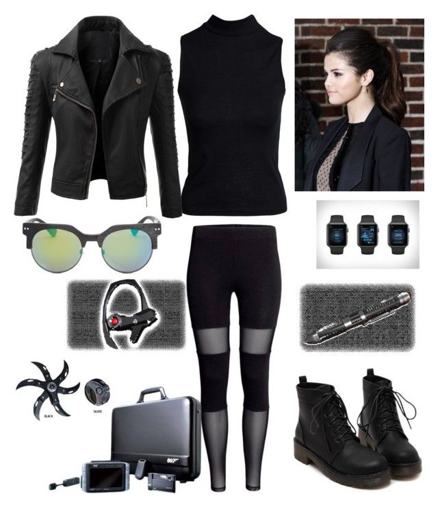 """halloween spy outfit"" by ashbash9692 ❤ liked on Polyvore featuring Boohoo, Doublju, Spy Optic and Sony"