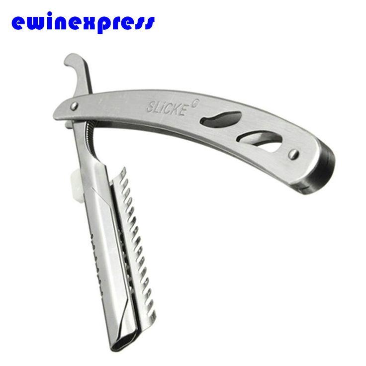 Professional Folding Barber Razors Hairdressing Stainless Steel Straight Cut Throat Shaving Removal Shaving Knife Razor EB2122
