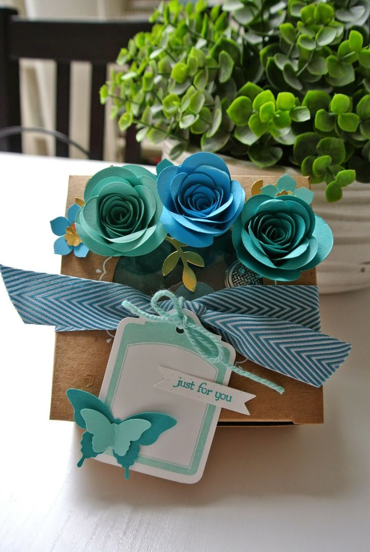 Spiral Flower die, Decorative Window giftbox Stampin Up by Cards and Scrapping