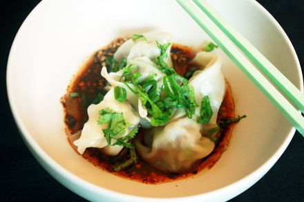 Sichuan Chili Oil Wonton (紅油抄手)  recipe from great Chinese home cook blog
