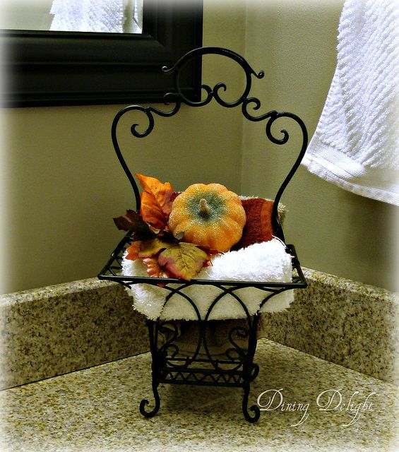 17 best images about sparkling fall thanksgiving decor for Fall bathroom sets