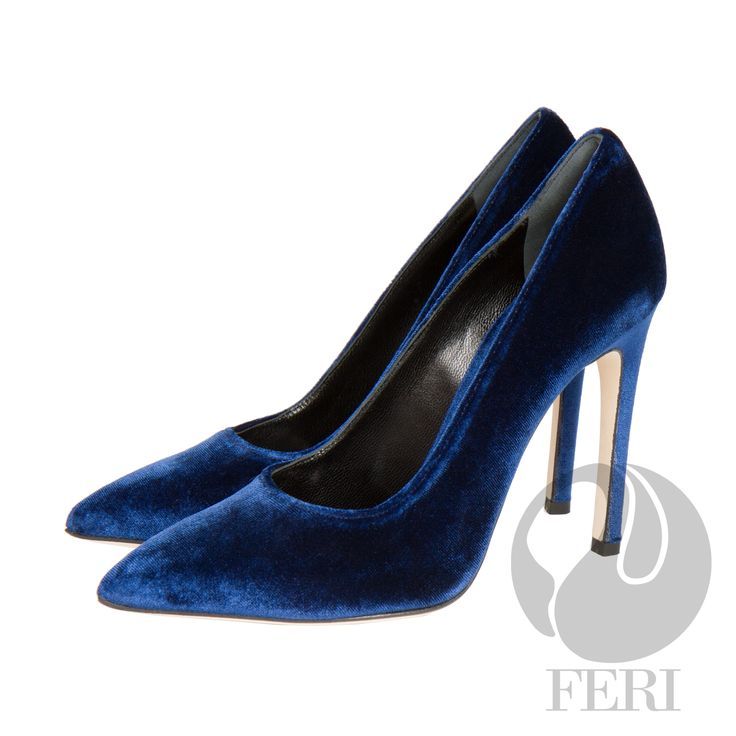 FERI - Mirella - Shoes - Blue - Blue plush velvet stiletto heel - Made with soft luxurious velvet - Real leather sole - FERI logo embossed in gold inside - Heel height: 4.53 inches  Invest with confidence in FERI Designer Lines.   Claim your Free $100 Gift check    http://www.gwtcorp.com/ghem or  email  fashionforghem.com for big discount