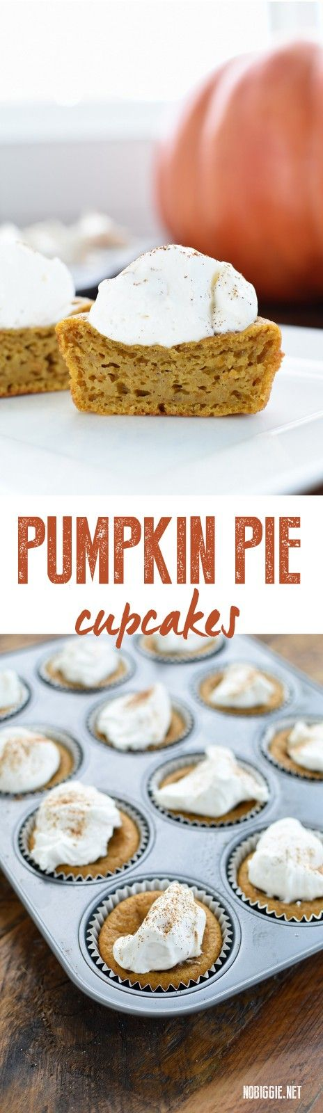 Pumpkin Pie Cupcakes | NoBiggie.net
