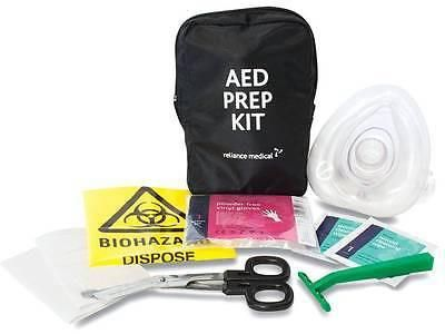 AED prep kit contains the basic items typically required for an AED Emergency. CONTENTS: 1 x Cleansing Wipe 1 x Clinical Waste Bag 1 x Disposable Razor 1 x Glov