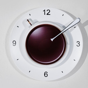 Coffee Cup Wall Clock White, 9€, now featured on Fab.