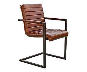 Chaise Fer Et Cuir Noir Marron