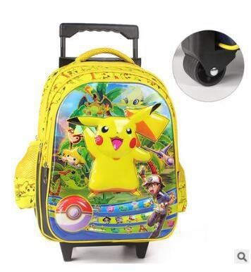 43.23$  Watch now - http://ali9mx.shopchina.info/go.php?t=32789833076 - kids wheeled Backpack for school Cartoon kids Rolling backpack for school Kids Travel Trolley luggage school Bags Trolley Case  43.23$ #buyininternet