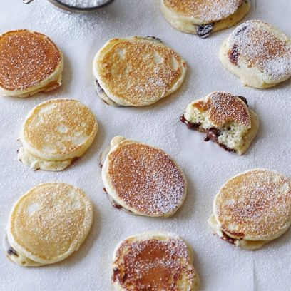 Mini chocolate chip pancakes. For the full recipe, click the picture or visit RedOnline.co.uk