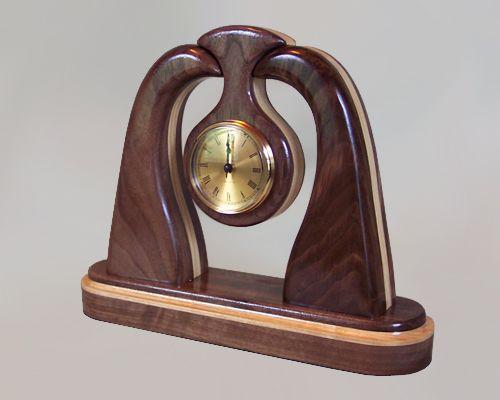 unique custom handcrafted wood mantel clocks very large handmade sculpted ash pendulum mantel clock - Mantel Clock