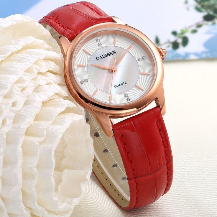 Aliexpress.com : Buy cadisen luxury brand watch women Diamond Pearl dial gold watch waterproof antique quartz watch female relogio feminino 2016 from Reliable clock radio suppliers on Sunday Watch Store