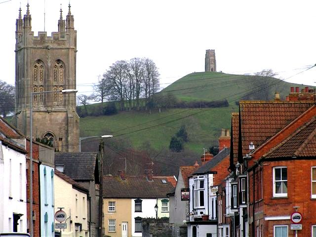 Glastonbury Town with Tor