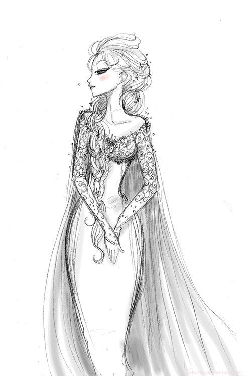 disneys frozen || CHARACTER DESIGN REFERENCES Elsa concept art Disney Princess Frozen