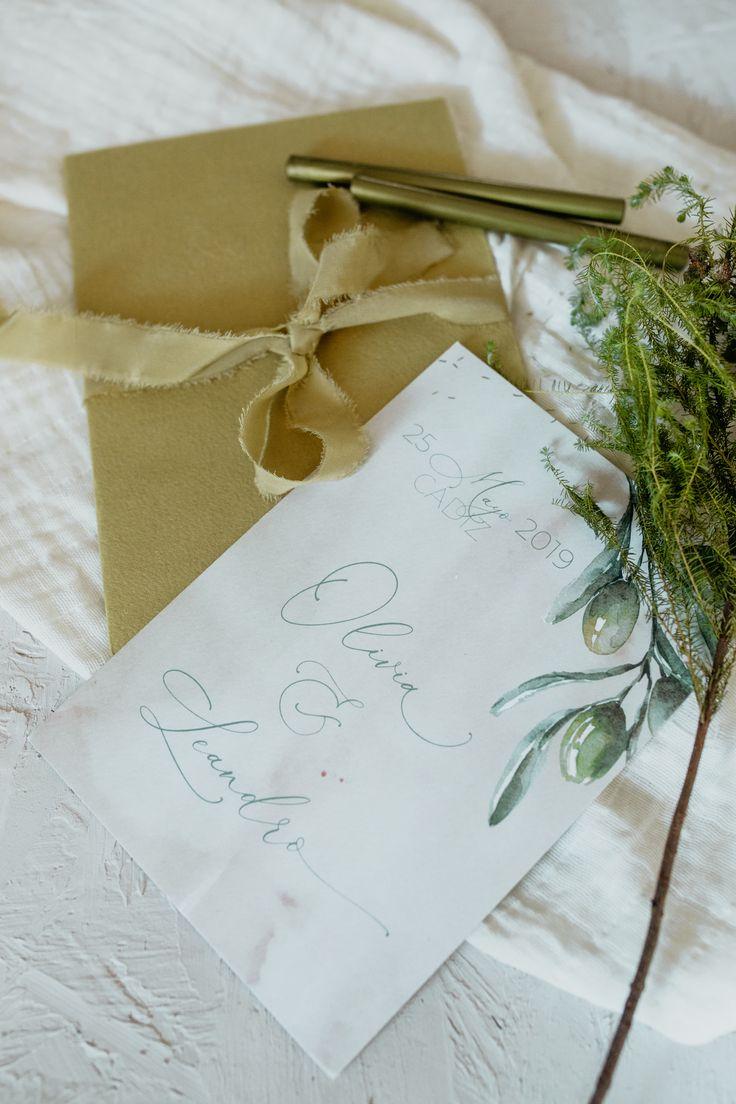 Invitación de boda 'Olivia'