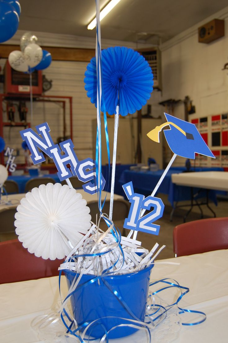 Easy centerpieces.... Grad time will be here soon ...