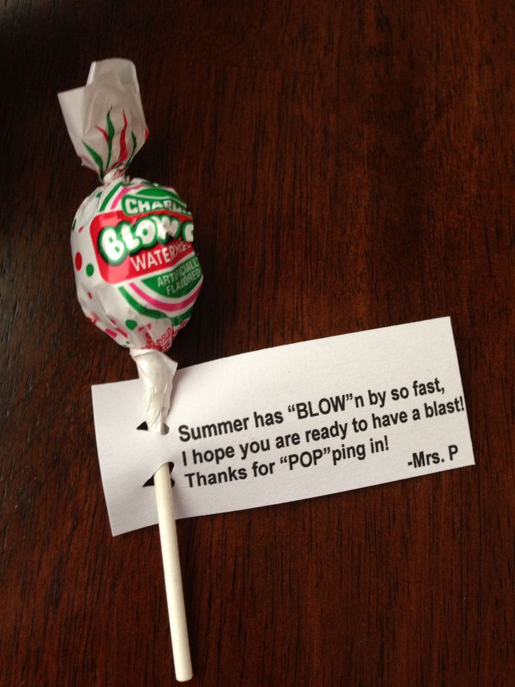 Open House idea before school starts. Great little gift for the students. Used a heart hole punch. Blow Pop, Education, Teacher