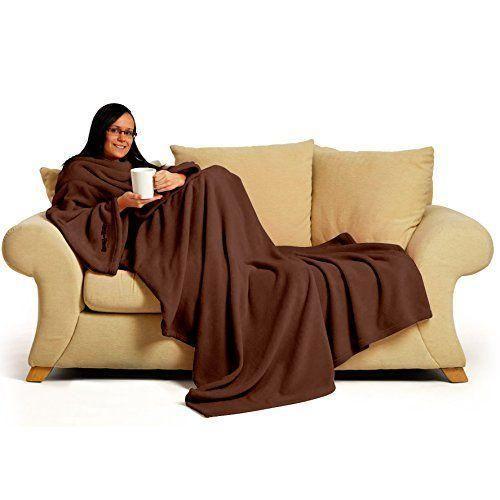 Die Kuscheldecke mit Ärmeln ist das ideale Geschenk für Frauen, die schnell frieren. Ideal für die Couch, das Auto oder für insFlugzeug. Diese Decke ist das Original von Snugrug DELUXE.