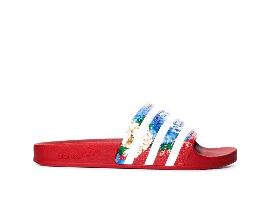 Adidas Adilette Floral Slide| TheSeptember.com