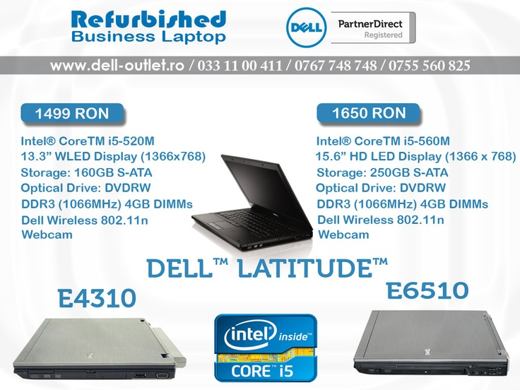 DELL Refurbished Business Laptop  http://www.dell-outlet.ro/laptop-second-hand-dell-latitude-e4310-core-i5.html