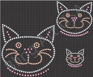 21 best really nice rhinestone cat designs images on for Rhinestone template material wholesale
