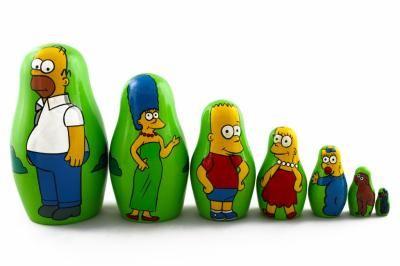 89,95 zł - Matrioszka Babuszka Simpsons Simpsonowie 7 sz