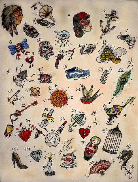 idéia desenho tattoo old school