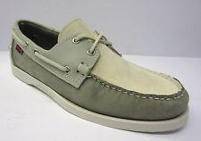 Sebago Docksides B72938/Spinnaker Mens Grey/Off White/Blue Nubuck Boat/Deck shoe