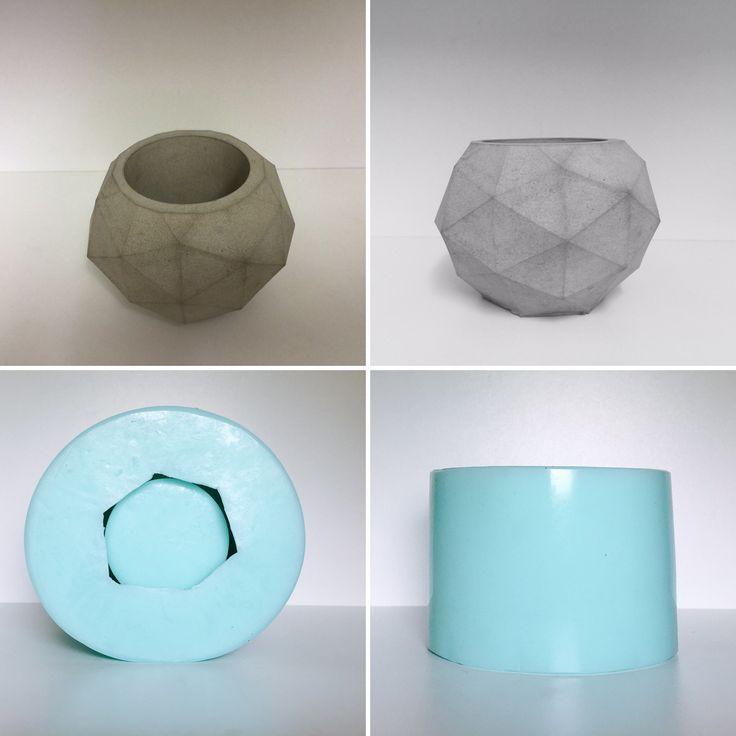 Geometric silicone planter mould, for casting concrete, resin, wax, soap    eBay