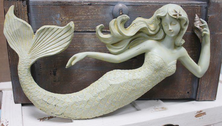 Sea Beauty Mermaid Wall Figure - Hanging Nautical Mermaid - Coastal Beach Decor