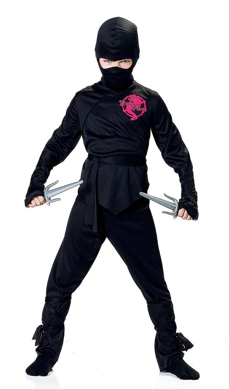 Black Ninja Costume for Boys | mouse over or click image(s) to enlarge