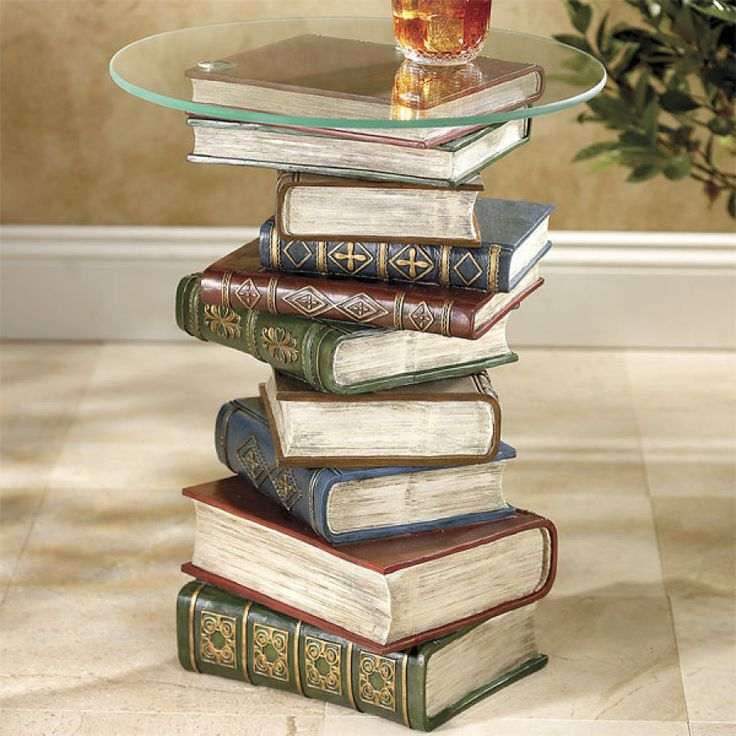 Stacked Books Table