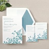 Antique Blossoms Wedding Invitations