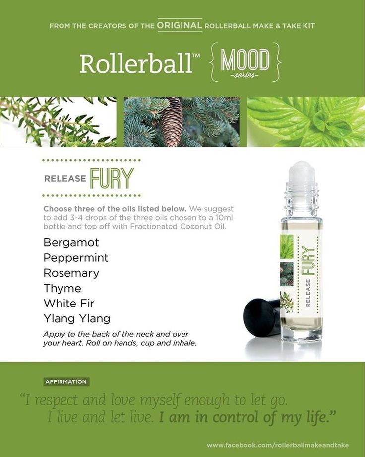 Essential oil roller bottle recipe to release fury.