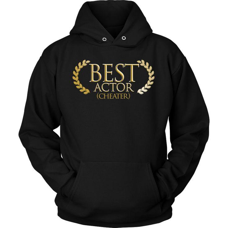 Best Actor Cheater Funny Pun Joke Premium Hoodie