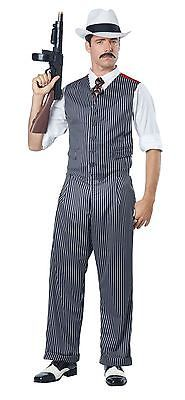 MOBSTER GANGSTER FANCY DRESS COSTUME ADULT MENS 1920s MAFIA AL CAPONE MOB OUTFIT