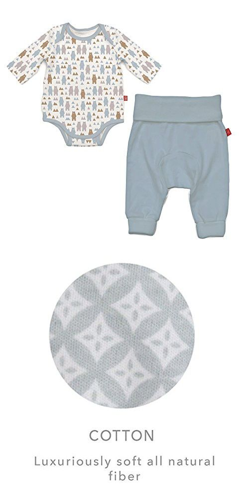 30b850baee8 Magnificent Baby Magnetic Bodysuit and Pant Set
