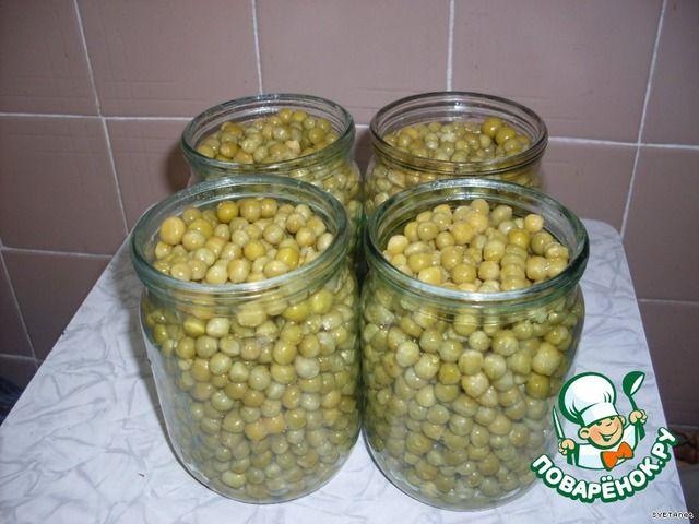 Горошек зелeный консервированный ингредиенты