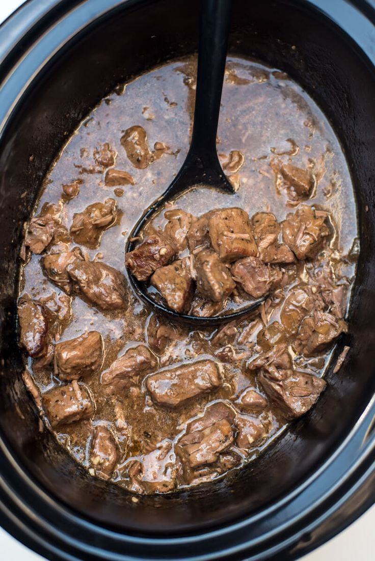 A delicious way to prepare steak in the cold fall and winter months. Slow Cooker Beef Tips with Gravy is a satisfying, family-friendly meal. With a little help from your slow cooker you can have this delicious, satisfying meal on your menu any night of the week. ~ www.fromvaleriesk...