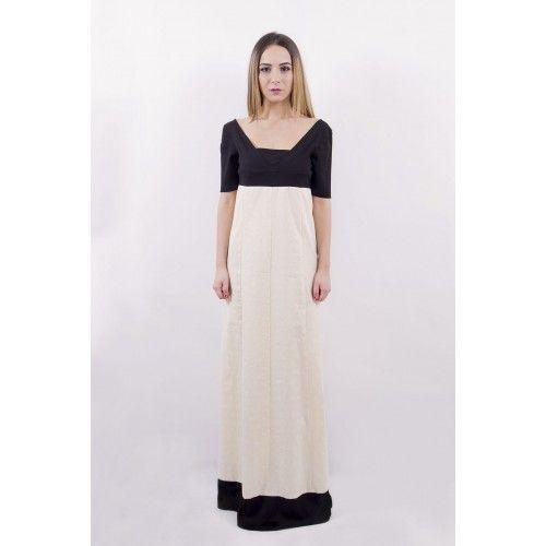 Adele - Un abito lungo, in chiaro stile impero. Una gonna svasata, ampia ed elegante, ideale per occasioni importanti. Un vestito raffinato e sensuale