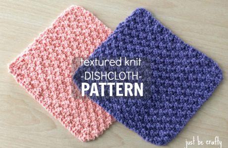 NEW Free Pattern!  Textured Knit Dishcloth