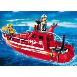 Playmobil 3128: Lancha de bomberos. Precio: 35,95 € Disponible en: http://www.playmoclicks.com/es/playmobil-/1108-playmobil-3128-lancha-de-bomberos.html