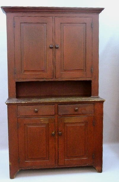 OHIO TWO-PIECE WALL CUPBOARD. Poplar wit - 862 Best Antiques Images On Pinterest Country Furniture, Antique