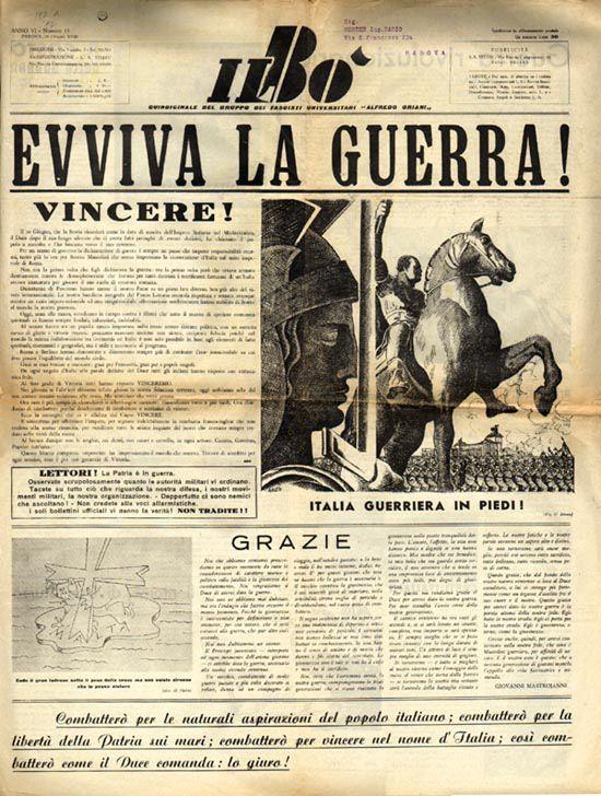 SECONDA GUERRA MONDIALE - ITALIA, CORRI ALLE ARMI