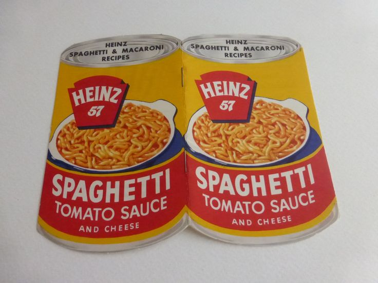 Vintage Mid Century Die Cut Heinz 57 Spaghetti Tomato Sauce and Cheese Cookbooklet by papertales on Etsy