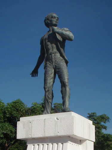 Alexander Bustamante's monument  Born Alexander Clarke in the parish of Westmoreland, he took the name Bustamante from an Iberian sea captain who befriended him in his early life. After acquiring some wealth on the American stock exchange, he returned to Jamaica in 1932 and in 1938 lead the resistance to the colonial government.