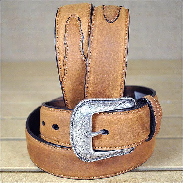 3D 1 1//2 Brown Mens Western Basic Belt