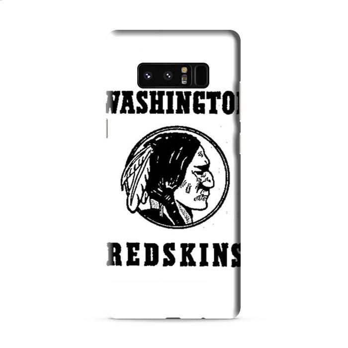 washington redskins logo black and white Samsung Galaxy Note 8 3D Case Caseperson