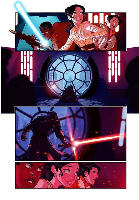 Galaxy Fantasy: Star Wars Episodio 7.5 Cómic, realizado por el artista Stephen Byrne